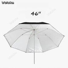"""4"""" двухслойный зонт для фотостудии отражающий мягкий белый зонт для фотосъемки цельная ручка с жесткими ребрами CD50 T10"""