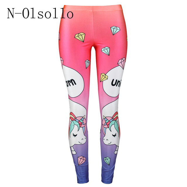 ee6cc7ef67b8f N-olsollo Pink Diamond Cartoon 3D Printed Mid Waist Leggings Workout Leggins  Sporting Women fitness Clothing Holographic Jegging