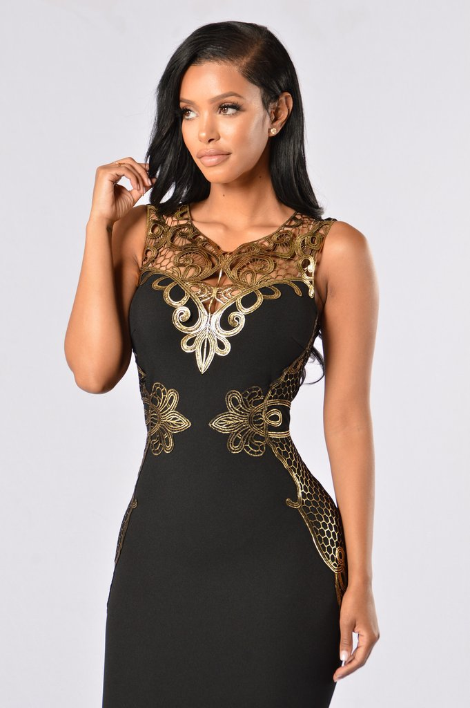 Sleeveless O-neck Chandelier Chic Decorative Slim Party Dress