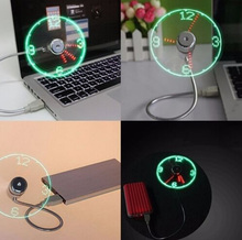 USB fan USB Mini Flexible Time LED Clock Fan with LED Light -Cool Gadget flexible usb clock fan gadgets cool Usb fan clock LED