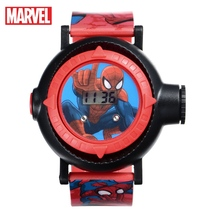Marvel Ultimate Spider-Man Project 10 Hero Patterns Amazing Children Sport Digital Watch Kids Projector Time Date Rubber Watches marvel universe ultimate spider man