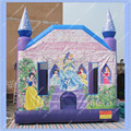 DHL Free Shipping Inflatable Jumping Caslte Princess Inflatable Bouncer Inflatable Pink Castle Commercial Quality