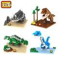 Parque Jurásico Dinosaurios LOZ Diamond Building Blocks Figura de Acción de Juguete de Los Niños Educativos de DIY Modelo