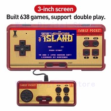 """3.0 """"Inch New Super Family Pocket Retro Video Game Console Handheld Game Console Built -in 638 Games for Kids Educational Toy"""