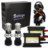 1sets Car Headlight Bixenon H4 Kit External Lights 2pcs Block 2pcs Blub Wires Bi Xenon H4