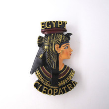 Ancient Egypt Countries Queen Anubis Fridge Magnet Souvenir Beauty Handpainted Resin Refrigerator Magnets Sticker Craft Decor