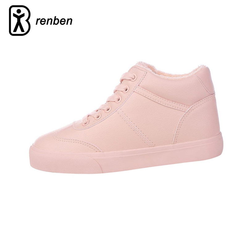 RenBen Warming Plush Women Casual Shoes Flats Sneaker Female Shoes Winter Fur Ladies Boots Crepper Durable