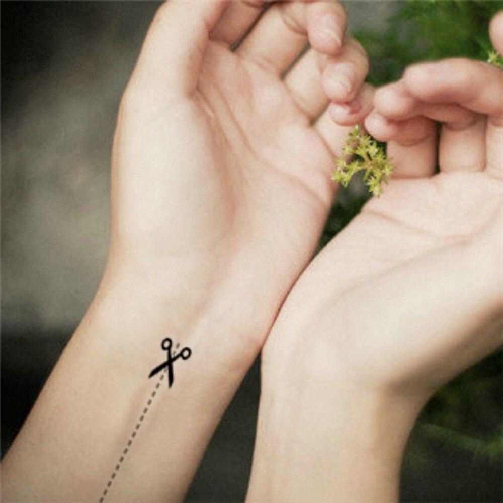 Us 028 35 Offontwerp Flash Tattoo Vrouwen En Mannen Sexy Tijdelijke Tattoos Sticker Waterdicht Nep Tattoo Stickers Harajuku 3d Schaar Arm In