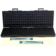 AideTek ESD Safe SMD хранилище ic Box W/144 бункеров анти-статики smt-коробка Организатор транзистор диод пластик toolbox Малый 2 BOXALLAS