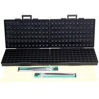 AideTek 2 BOX ESD Safe SMD IC Box W 144 Bins Anti Statics SMD SMT Organizer
