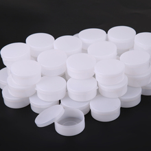 T2N2 50pcs 10g Home Traval Empty Cosmetic Jar Pot Eyeshadow Face Makeup Cream Container Box Refillable Bottles (White)