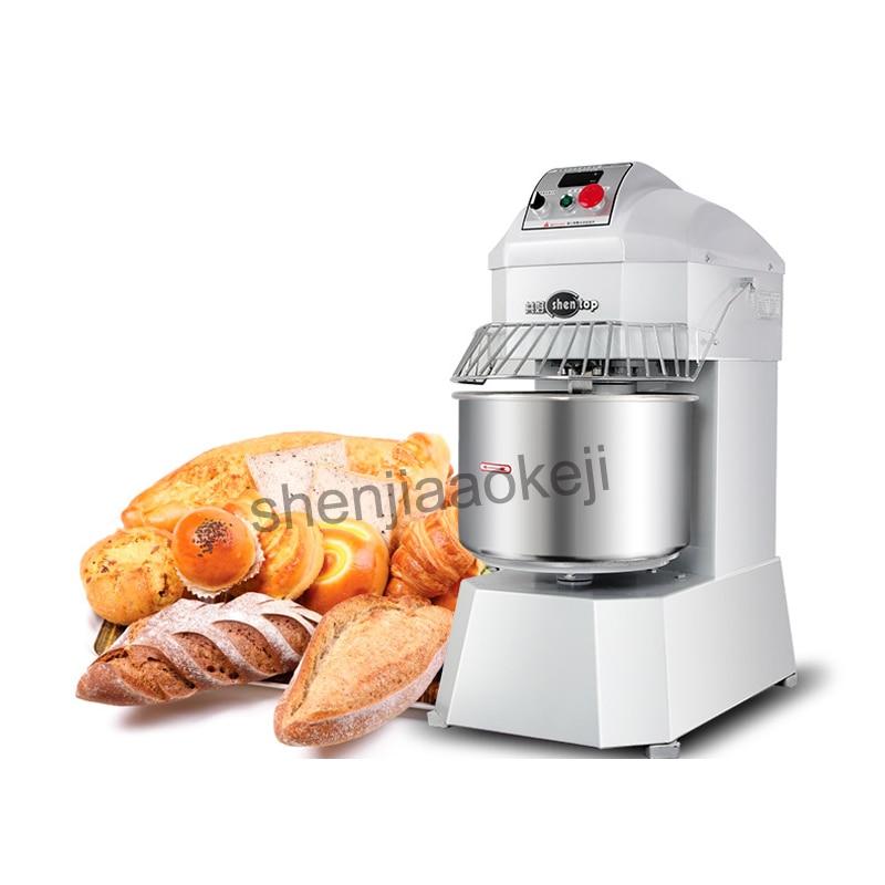 Commercial Bread Spiral Dough Mixer With Dough Temperature Display Double-acting 8kg Capacity Dough Mixer Doughmaker 220V 1PC