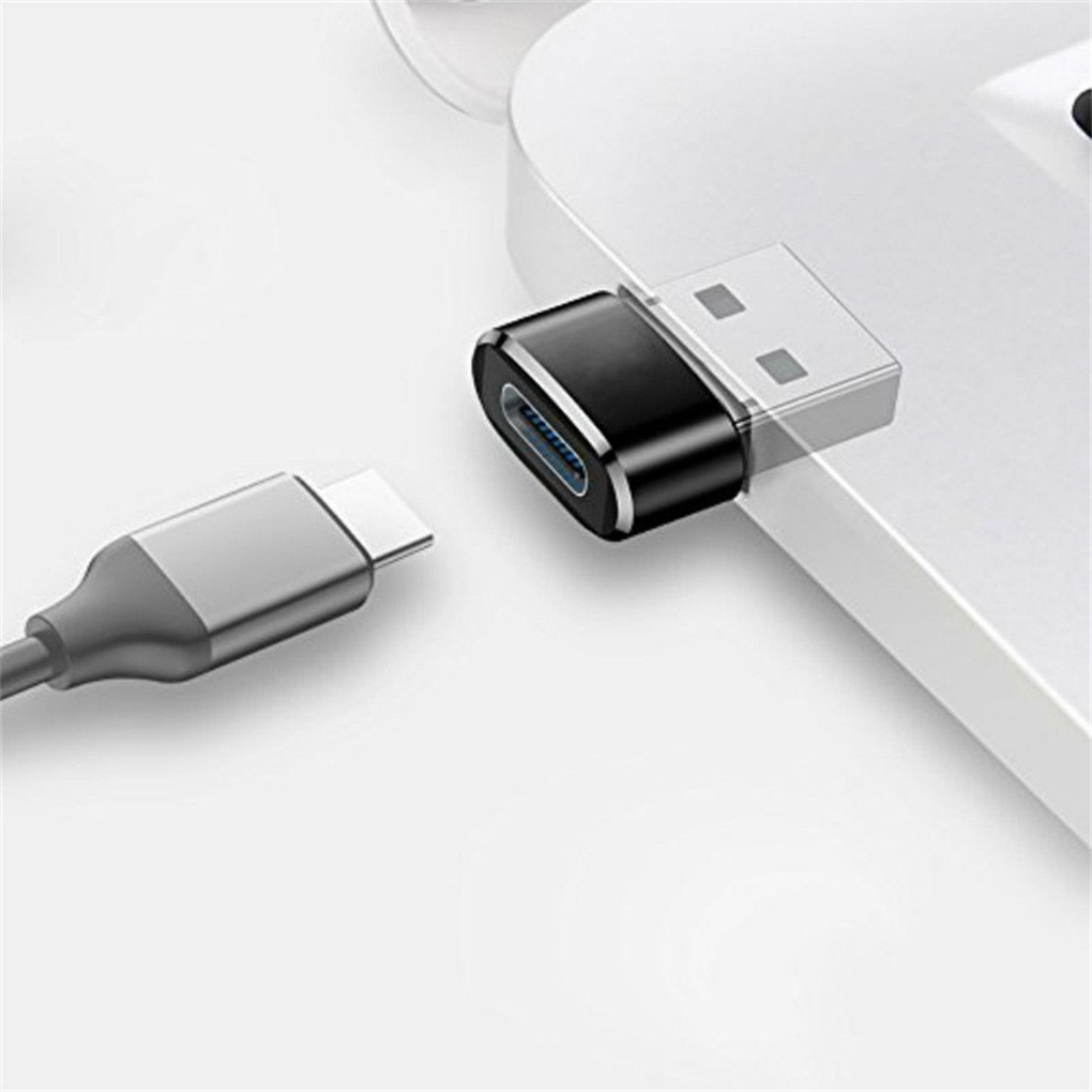 USB Male To Type-c Female Mini Adapter Laptop USB Plug To USB-a Port Portable Converter Data Charger