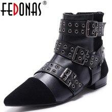 FEDONAS Top Quality font b Women b font Genuine font b Leather b font Kid Suede