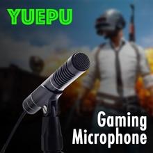 YUEPU RU-C65 Condenser Computer Microphone PC microfone High Sensitivity No 48V Require Video Recording 3.5mm For PUBG Mic LOL