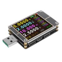 USB Tester QC4.0+ PD3.0 2.0 PPS Quick Charging Protocol Capacity DC Meter 4~24V 5A WITRN U2 USB Color Display Tester