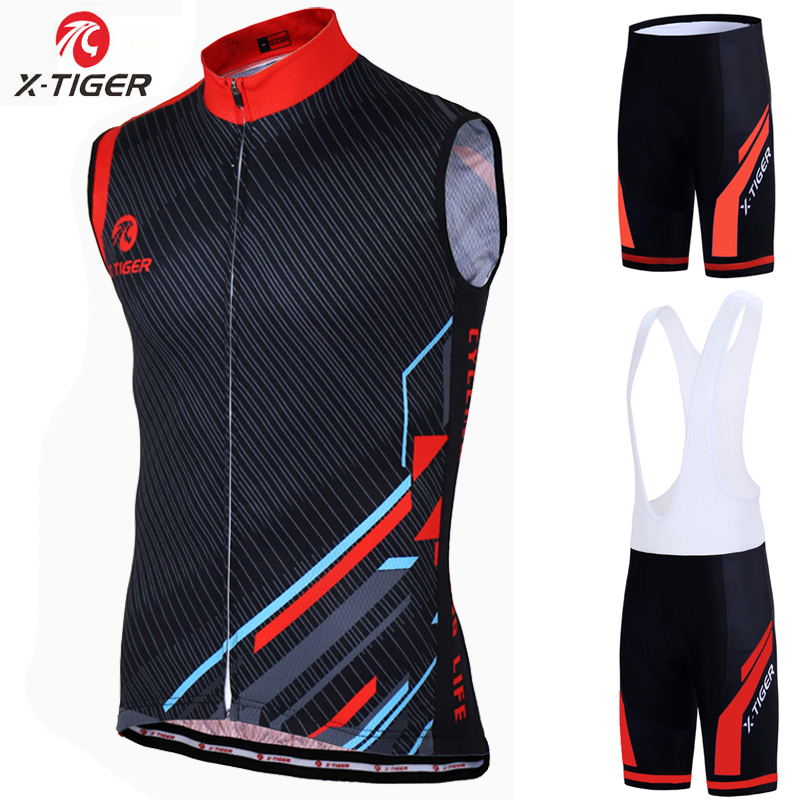 X Tiger 2020 Summer Breathable Pro Sleeveless Cycling Jersey Set Anti UV Racing Bicycle Cycling Clothing MTB Bike Cycling Suit|Cycling Sets|   - title=