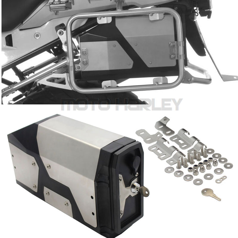 Decorative Stainless Steel Box For BMW R1200GS LC Adventure 2004-2017 Toolbox Suitable For BMW Side Bracket