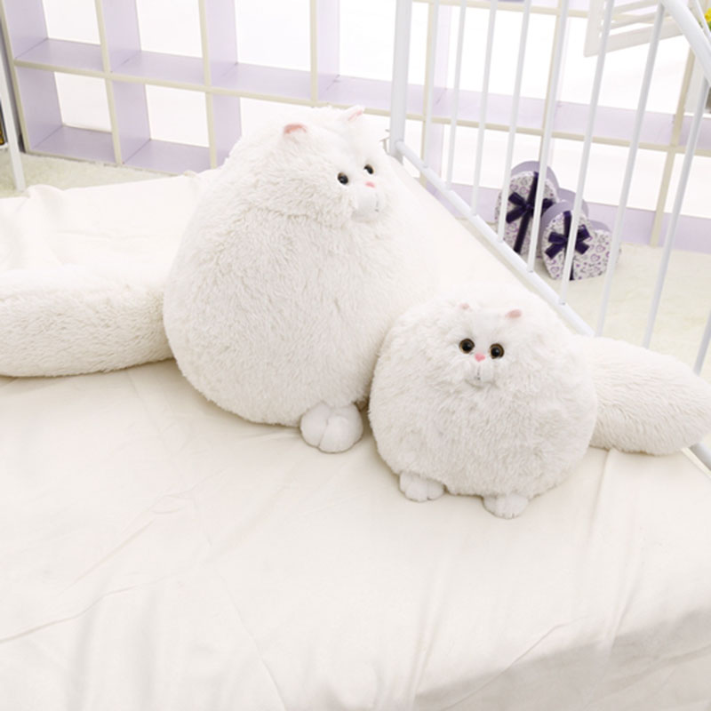30cm 50cm Cute Fat Persian Cat,Plush KidsToy,Cat Soft Stuffed Doll,White Simulation Cat Doll,Gift For Children Kids Toy D73Z 40 30cm pusheen cat plush toys stuffed animal doll animal pillow toy pusheen cat for kid kawaii cute cushion brinquedos gift