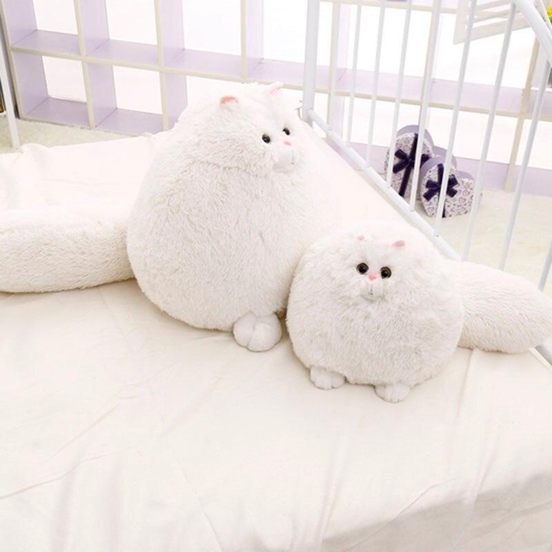 30cm 50cm Cute Fat Persian Cat,Plush KidsToy,Cat Soft Stuffed Doll,White Simulation Cat Doll,Gift For Children Kids Toy D73Z