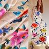 588 Imported High Grade Elastic Satin Silk Wedding Dress Silk Shirt Fabric High End Custom Fabric