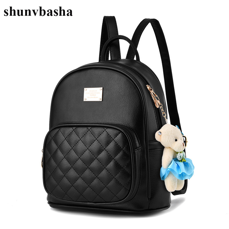 2017 Leather Backpacks Women High Quality Famous Brand School Bags For Teenage Girls Casual Style Fashion Design Mochila Female