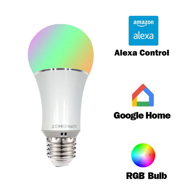 Dimmable E27 WiFi RGB Led Bulb Light Voice Control by Alexa Echo Google Home 2 4G