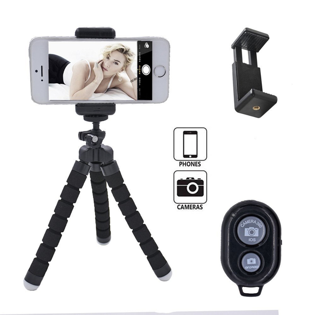 YIXIANG Octopus Style Portable And Adjustable Tripod Stand Holder For  IPhone, Cellphone ,Camera With