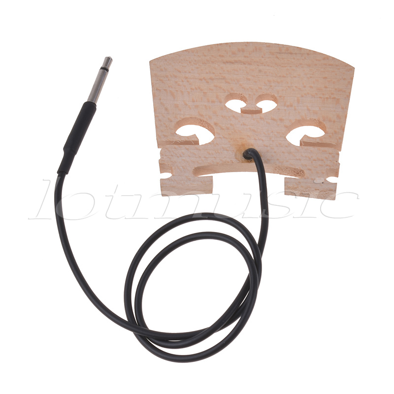 Electric Violin Bridge Piezo Pickup For 4/4 Violin Bridge Pick Up Replacement