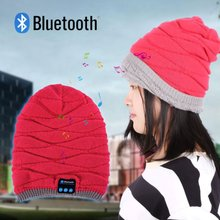 New Women Bluetooth Warm Cap Beanie Hat Wireless Smart Cap Headphone Headset Speaker Mic Hot