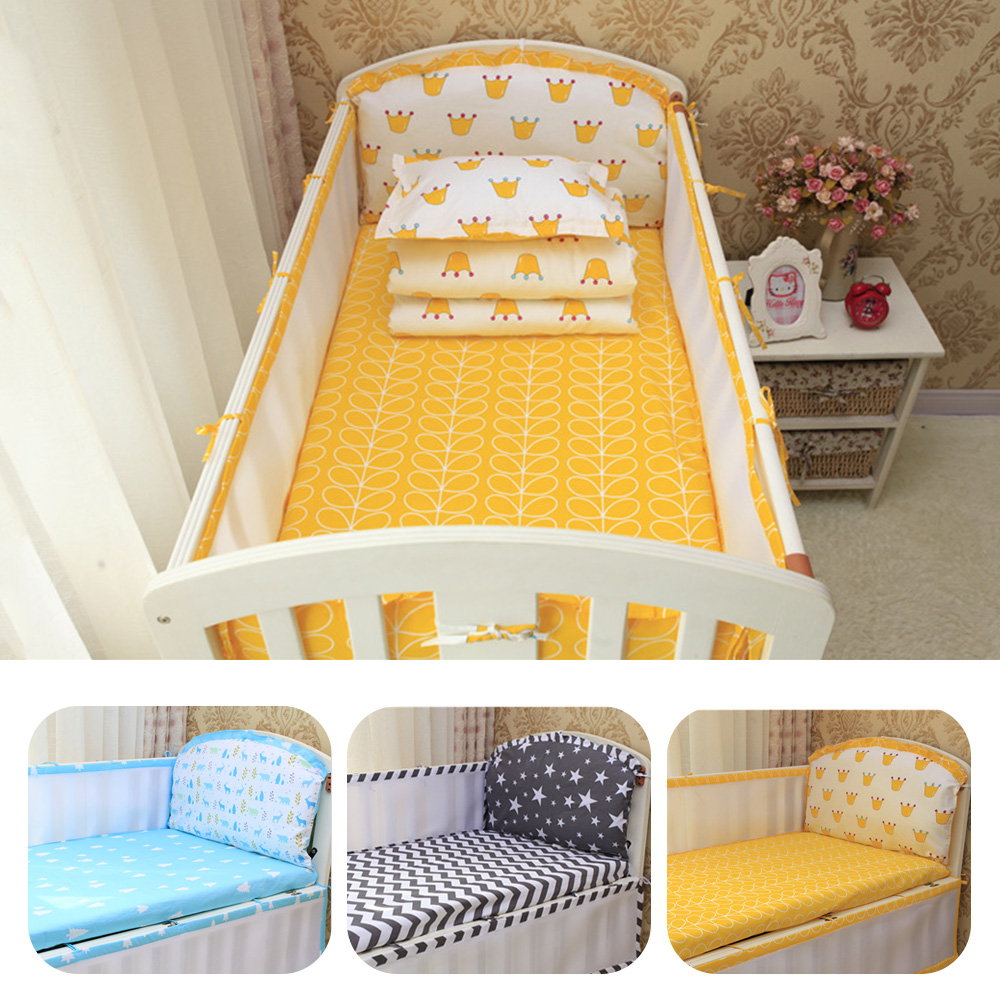 Cute Baby Bed Bumper Cotton Infant Cot Protector Detachable Baby Crib Bumpers High Quality Baby Bedding Gifts for Newborn Babies светильник новогодний космос koc star red