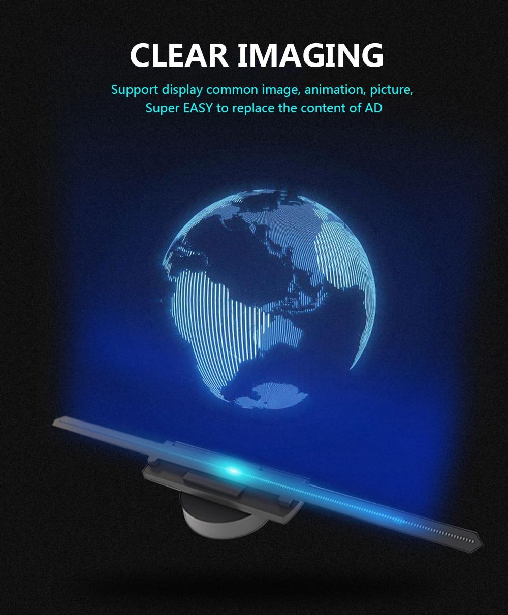 3D Hologram Advertising Display LED Fan Holographic Imaging Naked