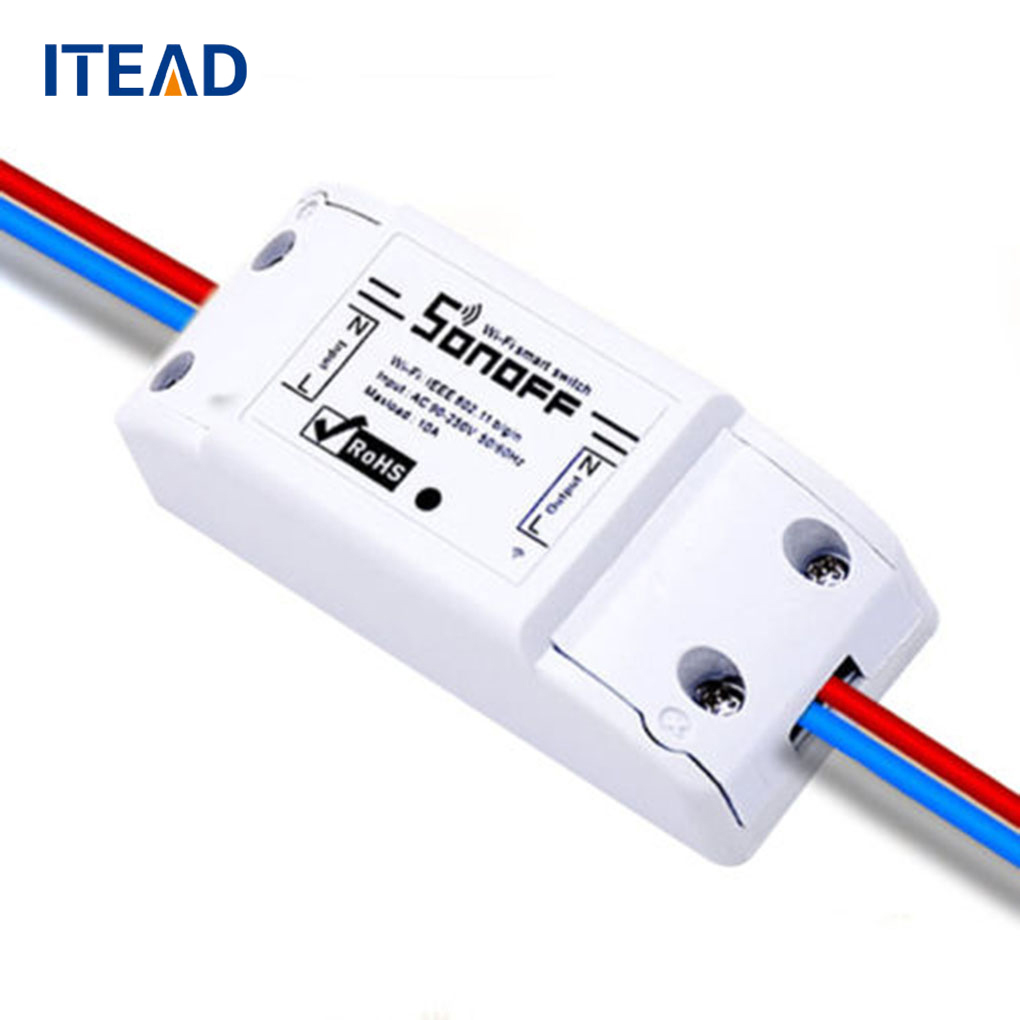 ITEAD Sonoff Remote Control Wireless Wifi Smart Switch APP Control Switch Home Automation Module Timer Smart Switch itead sonoff wifi remote control smart light switch smart home automation intelligent wifi center smart home controls 10a 2200w