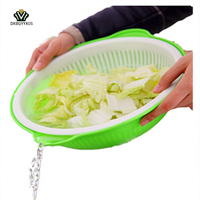 Creative Home Wash Basin Vegetable And Fruit Storage Basket Convenient And Practical Dry Fruit Tray Storage