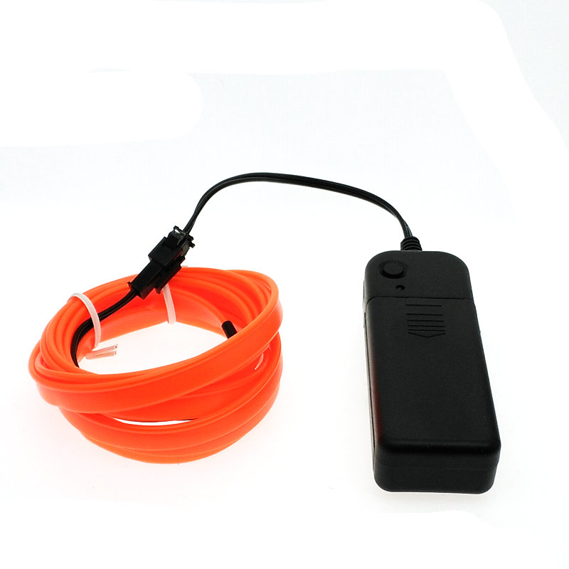 EL Wire Neon Light Dance Festival led strip EL lights With battery ...