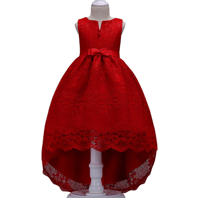 Summer Flower Lace Girls Wedding Pageant Party Dresses Princess Formal Prom Gowns Size 3-14 Years New Kid Girl Clothes