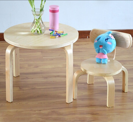 Children Furniture Sets 1 desk+1 chairs sets solid wood kids Furniture sets kids chair and study table sets small round table