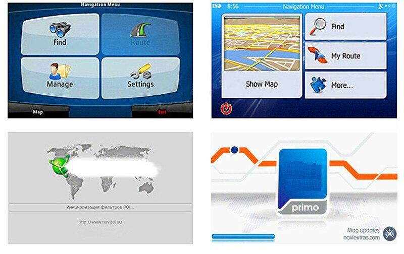 Truck GPS navigator Navitel 7 inch HD LCD screen FM256MB satellite voice  will carry Czech navigation