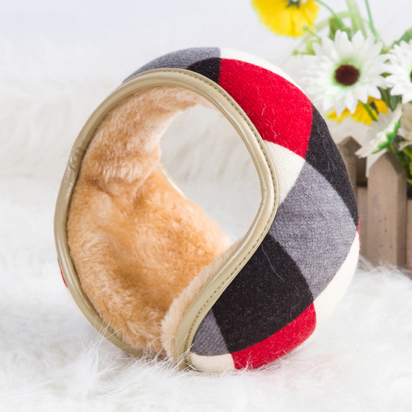 Hat Glasses Head Sweet Ice Cream Winter Earmuffs Ear Warmers Faux Fur Foldable Plush Outdoor Gift