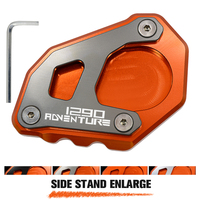 Motorcycle Accessories CNC Aluminum Enlarge Extension Side Stand Kickstand Cover Plate Screw Pad For Ktm 1290