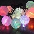 10 LED Panel Solar China Colgando Luz Con RGB Blanco Cálido Para Elegir Cadena Linterna Luz de La Lámpara Al Aire Libre Jardín Patio