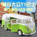 Aleación automóvil Volkswagen modelo de juguetes para niños de coches de doble bolsillo de la puerta de VW T1 bus para niños gfit