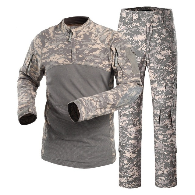 Camouflage Military Army Tactical Uniform Set Multicam Black Combat Shirt BDU Pants Men Hunting Clothes Airsoft Sniper Clothing 6