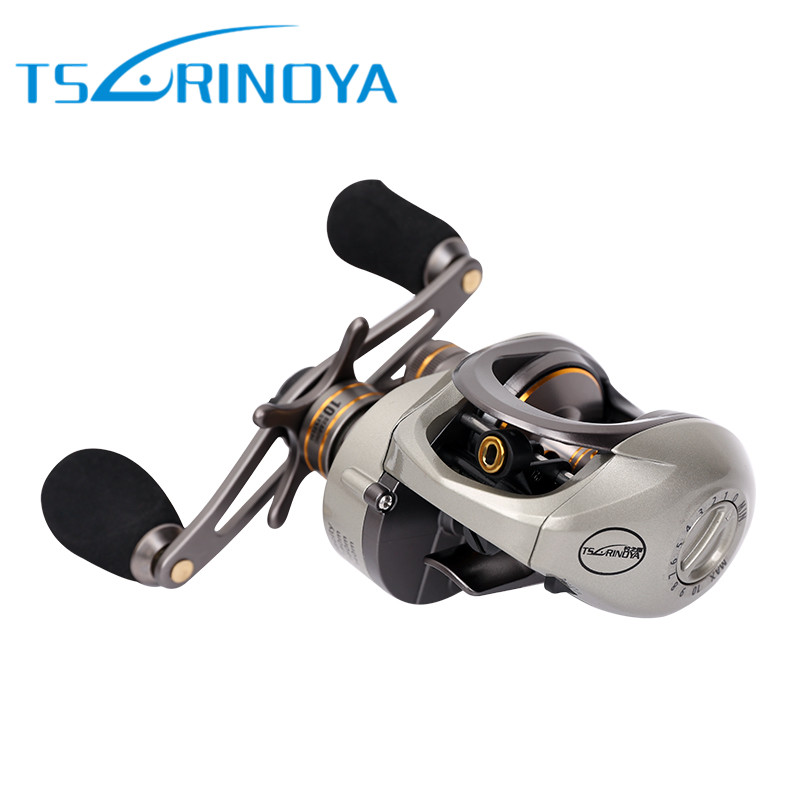 Tsurinoya Bait Casting Reel 9+1BB 6.6:1 Baitcasting Wheel Magnetic & Centrifugal Double Brakes System Carretilha De Pesca 12 1bb left right hand bait casting fishing reel 6 3 1 baitcasting reel magnetic brake system fish wheel pesca lyw 013