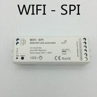 WIFI SPI Controller DC5V 24V RGB WiFi SPI LED Controller Support WS2812B TM1809 LPD6803 WS2811 UCS1903 IC for Pixel led Strip
