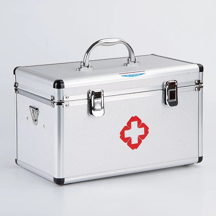 B1N41-B1N60  3M Aluminum Alloy Medical Cabinet Multi-Layer Medical First Aid Kit Drug Storage Box 16 Inch Medical Kit