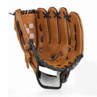 10.5/11.5/12.5 inches Training Brown Baseball Softball Glove Mitt for Children Youth Adult Exercise Softball Catcher Gloves