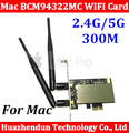 Original PCI-E 2.4G/5G Airport Extreme BCM94322MC Dual frequency Wireless WIFI Card For All 06-12 MA970 MA356 Machine
