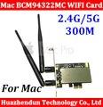 Original PCI-E 2.4G/5G Extrema Aeroporto BCM94322MC Dupla frequência Cartão WI-FI Sem Fio Para Todos Os 06-12 MA356 MA970 Máquina