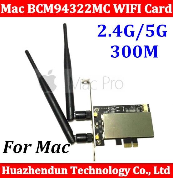 Original pci-e 2.4 г/5 г AirPort Extreme BCM94322MC двухчастотный Беспроводной WI-FI карты